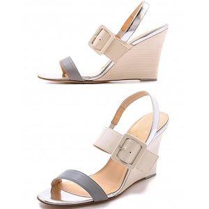 🎬 Kate Spade ♤ Isola Wedge Sandals ♤ Porcelain